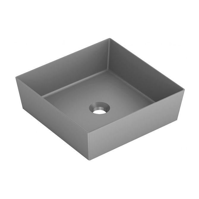 Cuba-de-Apoio-Quadrada-Cinza-Matte-38x38cm-Platinum-P5---Incepa