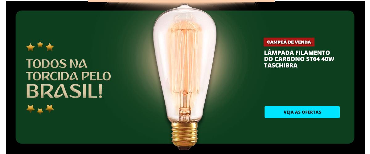 COPA - LAMPADA FILAMENTO DO CARBONO ST64 40W - TASCHIBRA