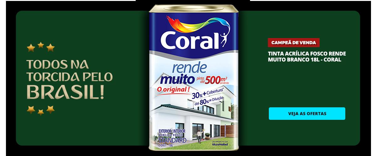 COPA - TINTA ACRILICA FOSCO RENDE MUITO BRANCO 18L - CORAL