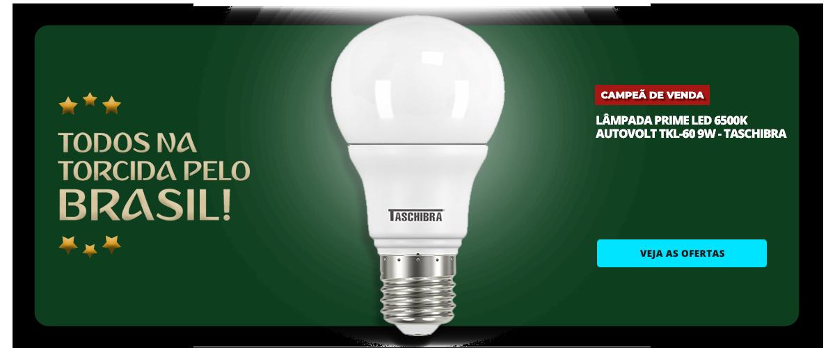 COPA - LAMPADA PRIME LED 6500K AUTOVOLT TKL-60 9W - TASCHIBRA