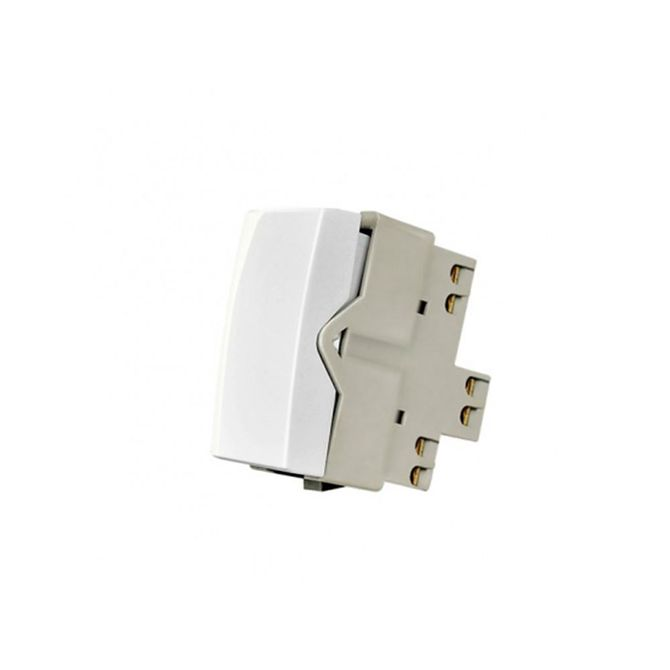 Modulo-Interruptor-Bipolar-Simples-de-10A-Linha-Sleek-Branco---Ref-16056---Margirius