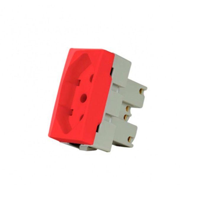 Modulo-Tomada-2P-T-de-20A-Linha-Sleek-Vermelho---Ref-15918---Margirius