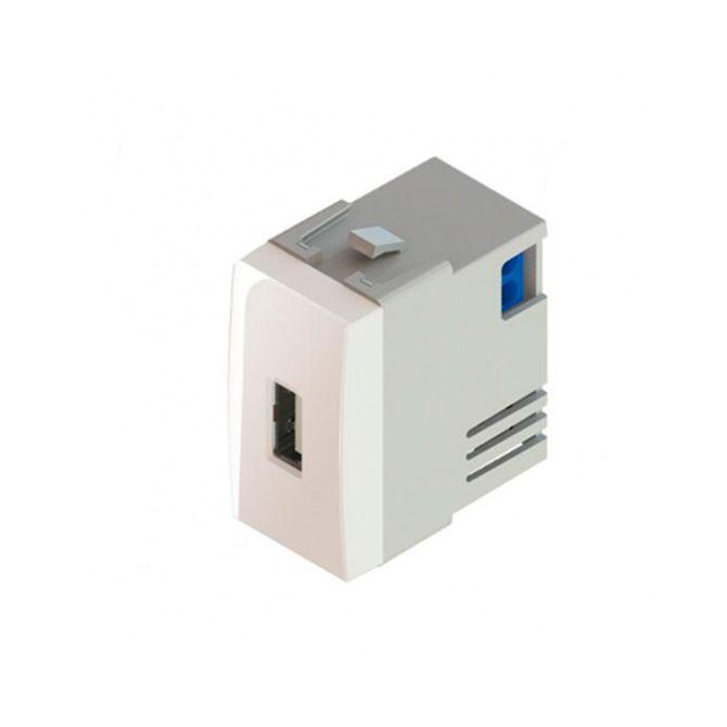 Modulo-Tomada-Carregador-de-USB-1A-Bivolt-Linha-Sleek-Branco---Ref-16066---Margirius