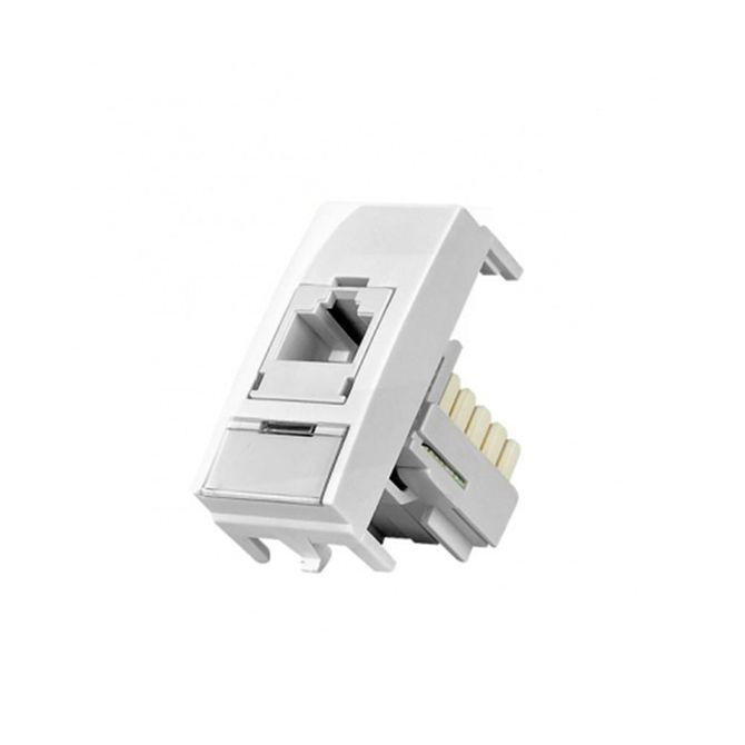 Modulo-Tomada-para-Informatica-RJ45-CAT5E-Linha-Sleek-Branco---Ref-16045---Margirius