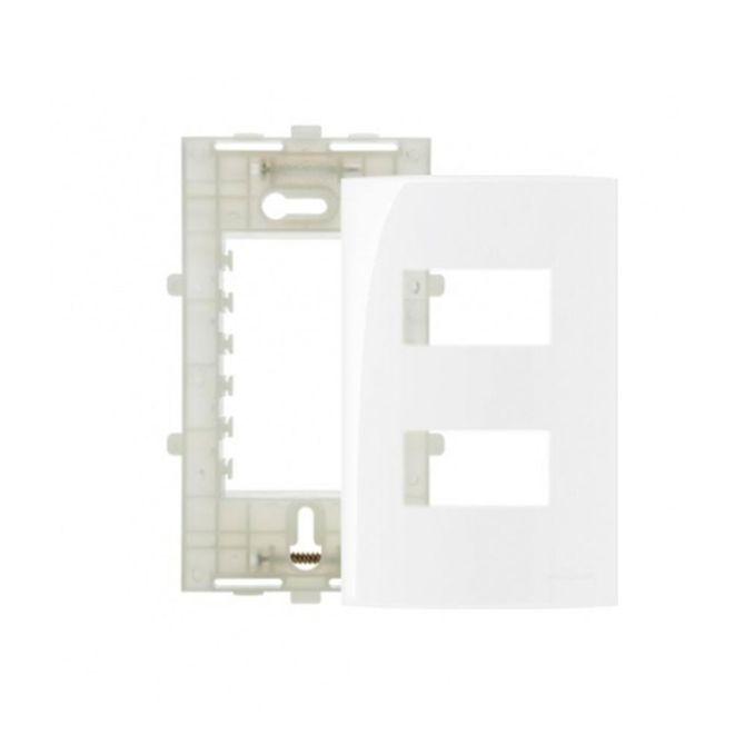 Placa-4x2-com-2-Postos-Separados---Suporte-Linha-Sleek-Branco---Ref-16024---Margirius
