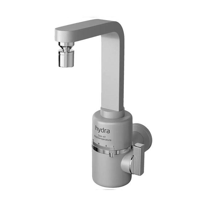 Torneira-Eletrica-Multitemperaturas-Slim-Prata-Fosco-Parede-220V---Hydra