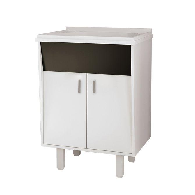 Gabinete-para-Lavanderia-em-MDF-60cm-com-Tanque-em-Marmore-Sintetico-Branco---Lavanda---Cozimax