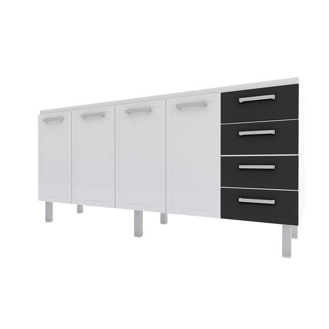 Gabinete-para-Cozinha-em-Aco-2m-Branco-e-Preto---Quality-Flat---Cozimax-