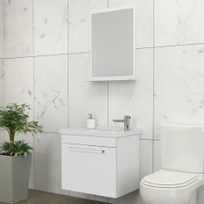 Kit-para-Banheiro-com-Espelheira-Toucador-e-Cuba-45cm-Branco---Agata---Cozimax