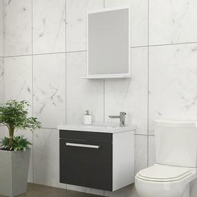 Kit-para-Banheiro-com-Espelheira-Toucador-e-Cuba-45cm-Branco-e-Preto---Agata---Cozimax