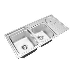Cuba-para-Cozinha-Dupla-com-Lixeira-Funzionale-228-Acetinada-92x45x227cm---Debacco1