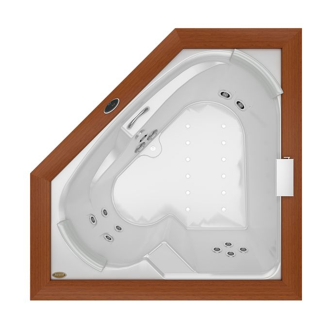 Banheira-de-Hidromassagem---FLEXA-WOOD---Acrilica---11-Jatos---165x165x575cm---Jacuzzi-over