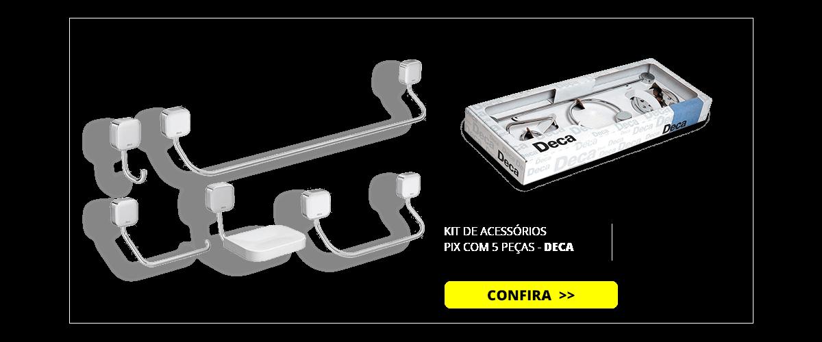 KIT DE ACESSORIOS PIX COM 5 PECAS - 2000.C02 - DECA