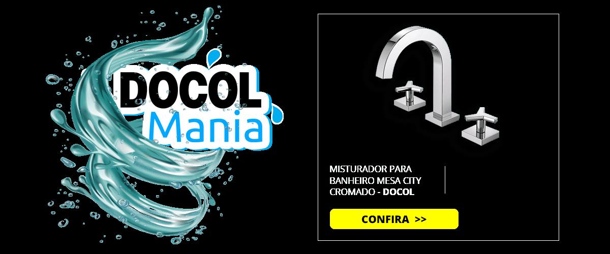 MISTURADOR PARA BANHEIRO MESA CITY CROMADO - DOCOL