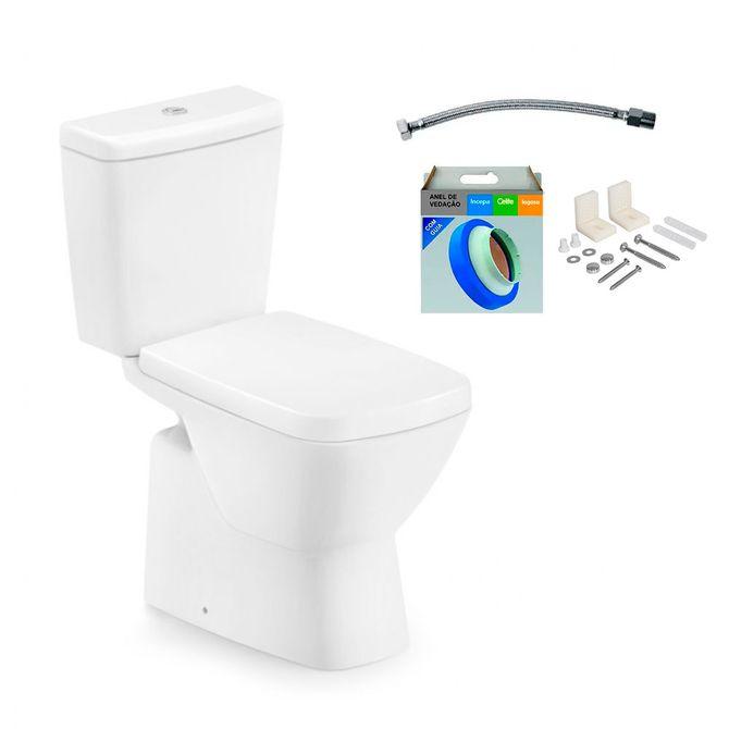 Kit-Bacia-com-Caixa-Acoplada-e-Assento-Suite-Branco---Conjunto-de-Fixacao-Flexivel-e-Anel-de-Vedacao---Incepa