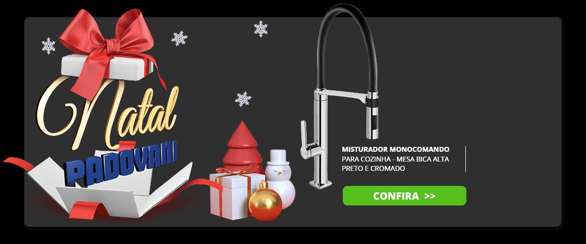 Misturador monocomando para cozinha mesa bica alta doc preto e cromado - docol