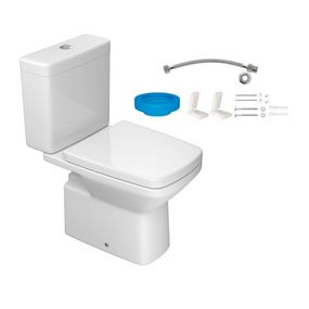 Kit-Bacia-com-Caixa-Acoplada-e-Assento-Clean-Branco---Conjunto-de-Fixacao-Flexivel-e-Anel-de-Vedacao---KP.460.17---Deca