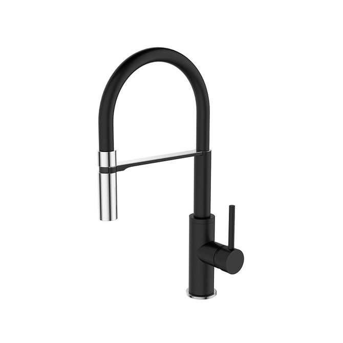 Misturador-Monocomando-para-Cozinha-Gourmet-Black-Matte-com-Flexivel-Preto-10645-291AH---Jiwi