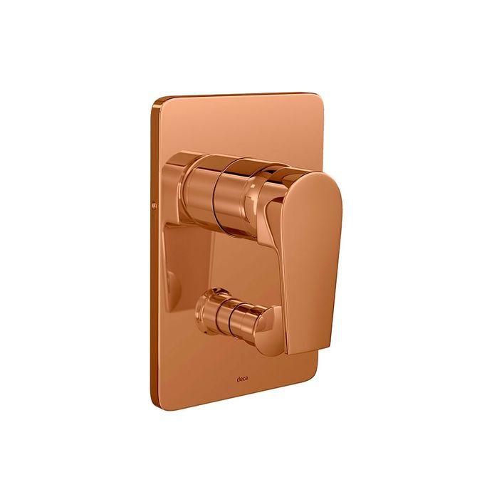 Acabamento-para-Chuveiro-Monocomando-4-Vias-Level-Red-Gold---4994.GL26.RD---Deca