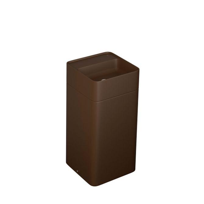 Cuba-de-Piso-Quadrada-Marrom-Fosco-com-Mesa-e-Coluna-40x40x85cm---LC.28.22---Deca