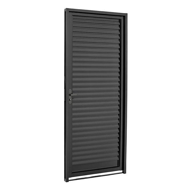Porta-de-Aco-Veneziana-de-Abrir-Pratika-Black-Preta-1-Folha-Abertura-Direita-217x87x65---24122310---Sasazaki-