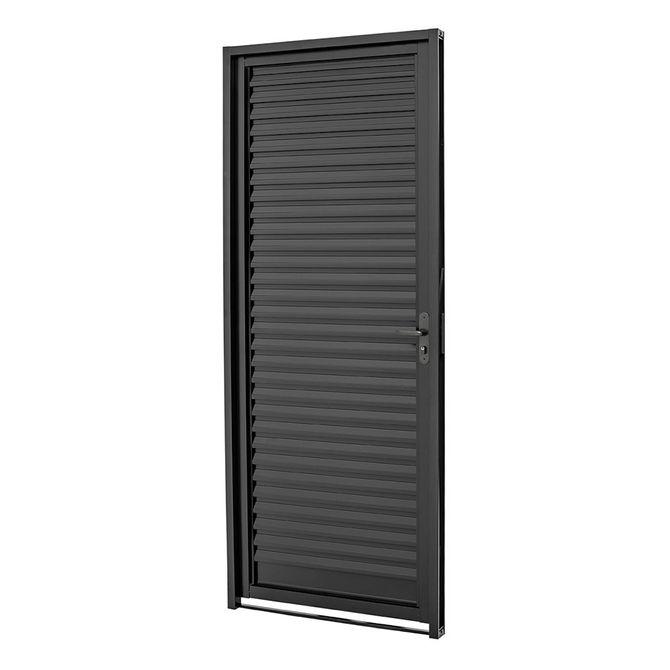 Porta-de-Aco-Veneziana-de-Abrir-Pratika-Black-Preta-1-Folha-Abertura-Esquerda-217x87x65---24122328---Sasazaki-