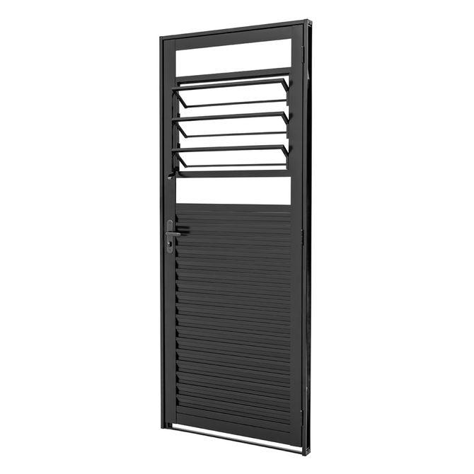 Porta-de-Aco-Veneziana-de-Abrir-com-Bascula-Pratika-Black-Preta-1-Folha-Abertura-Esquerda-217x87x65---24124320---Sasazaki-