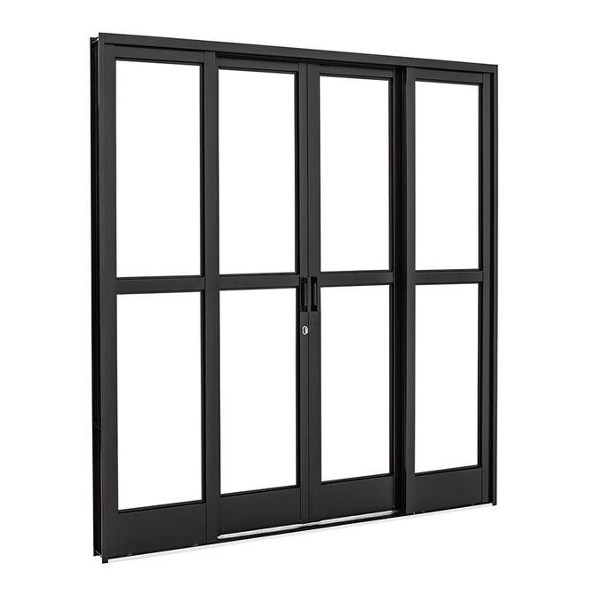 Porta-de-Aco-de-Correr-Pratika-Black-Preta-com-Divisao-Central-4-Folhas-217x200x12---26322316---Sasazaki
