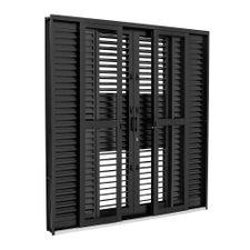 Porta-Balcao-de-Aco-de-Correr-Multiflex-Pratika-Black-Preta-6-Folhas-217x200x16---26350310---Sasazaki