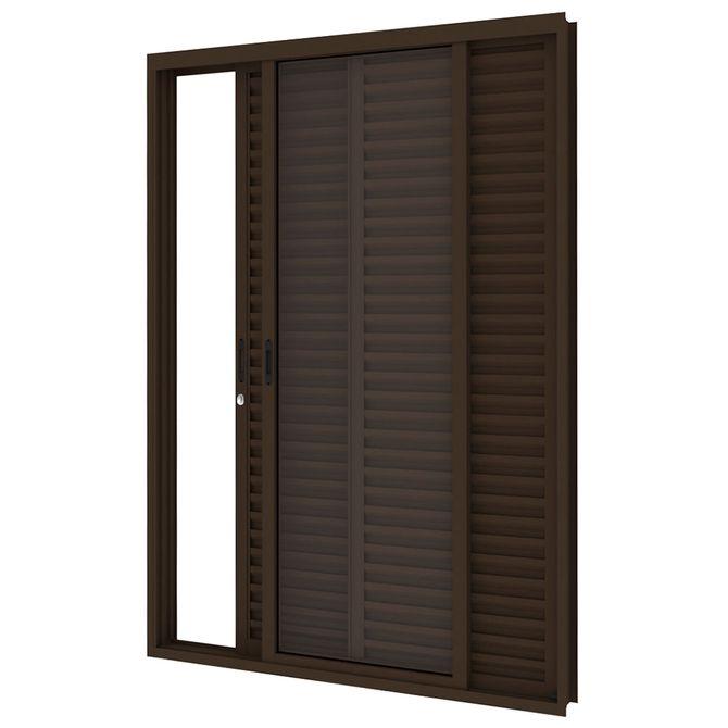Porta-Balcao-de-Aco-de-Correr-Bronze-3-Folhas-Abertura-Direita-216x150x14cm---3485--Vitrolar