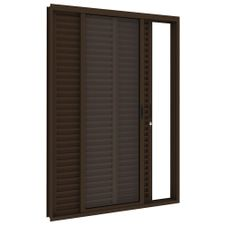 Porta-Balcao-de-Aco-de-Correr-Bronze-3-Folhas-Abertura-Esquerda-216x150x14cm---3486--Vitrolar