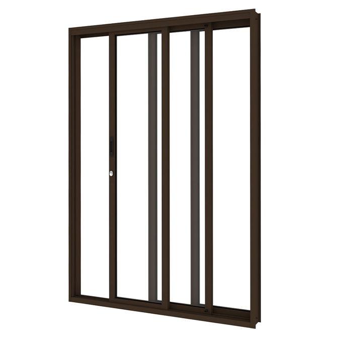 Porta-de-Aco-de-Correr-Bronze-3-Folhas-Abertura-Direita-216x200x14cm---3481--Vitrolar