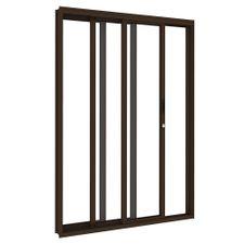 Porta-de-Aco-de-Correr-Bronze-3-Folhas-Abertura-Esquerda-216x200x14cm---3482--Vitrolar
