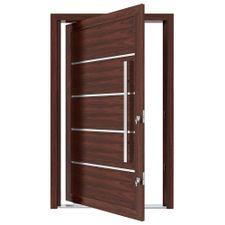 Porta-Pivotante-de-Aluminio-com-Frisos-e-Puxador-Cerejeira-Abertura-Direita-221x127x115cm---3704---Vitrolar