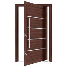 Porta-Pivotante-de-Aluminio-com-Frisos-e-Puxador-Cerejeira-Abertura-Esquerda-221x127x115cm---3705---Vitrolar