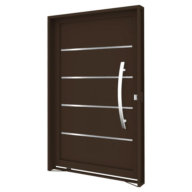Porta-Pivotante-de-Aco-com-Frisos-e-Puxador-Bronze-Abertura-Direita-2205x1285x14cm---3476---Vitrolar