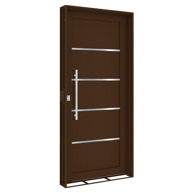 Porta-Social-de-Aco-de-Abrir-com-Friso-e-Puxador-Bronze-Abertura-Esquerda---215x100x14cm---3805---Vitrolar