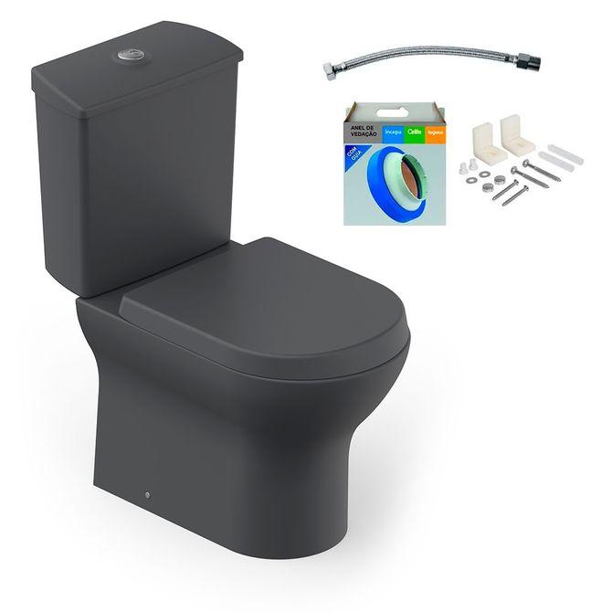 Kit-Bacia-com-Caixa-Acoplada-e-Assento-Nexo-Grafito---Conjunto-de-Fixacao-Flexivel-e-Anel-de-Vedacao---Roca