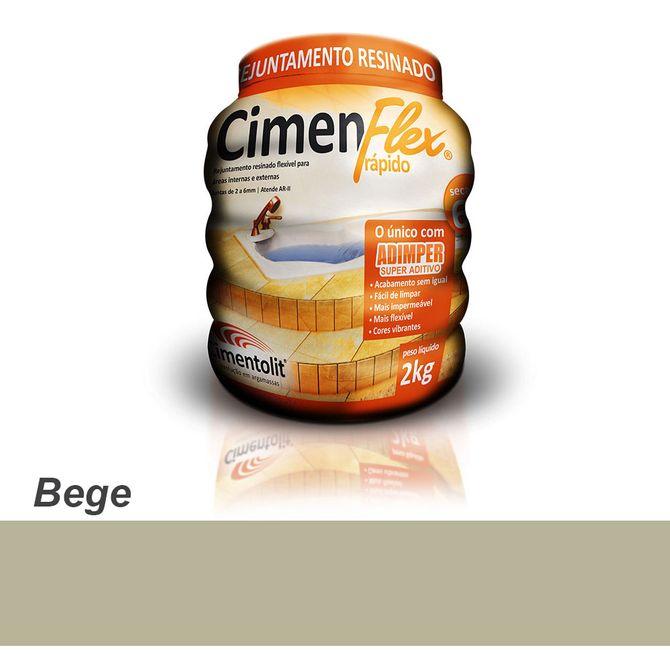 Rejunte-Resinado-Rapido-Cimenflex-2kg-Bege---Cimentolit