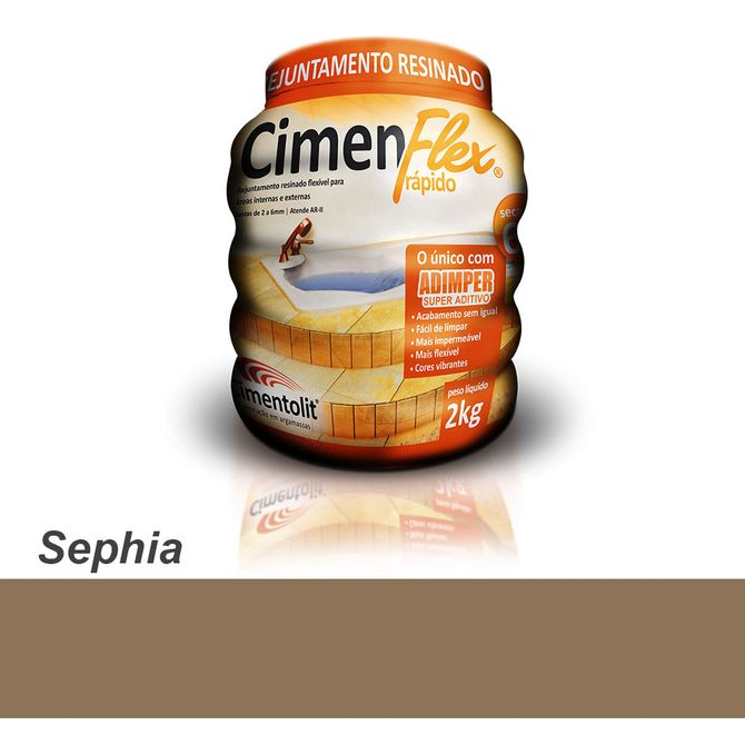Rejunte-Resinado-Rapido-Cimenflex-2kg-Sephia---Cimentolit