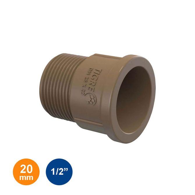 Adaptador-Curto-Marrom-Soldavel-20mm---1-2---Tigre