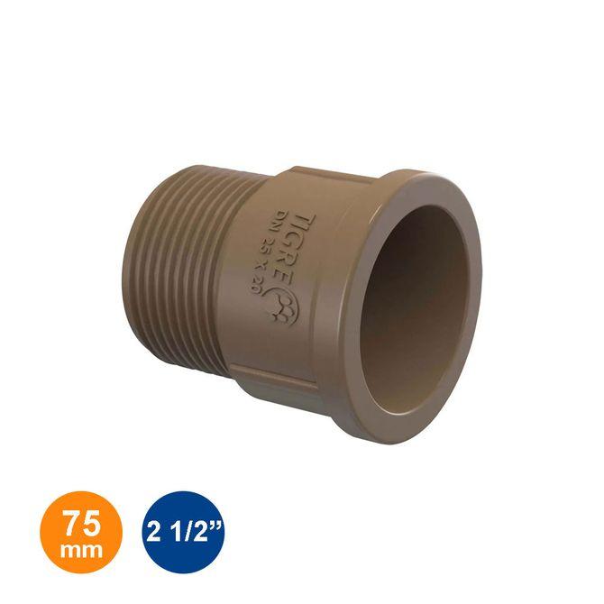 Adaptador-Curto-Marrom-Soldavel-75mm---2-1-2---Tigre