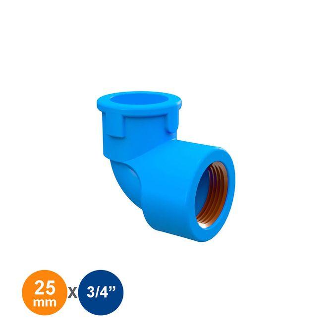 Joelho-90°-Azul-Solda-Rosca-25mmx3-4---Tigre