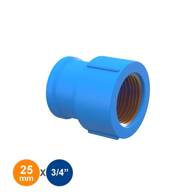 Luva-Azul-Solda-Rosca-25mmx3-4---Tigre