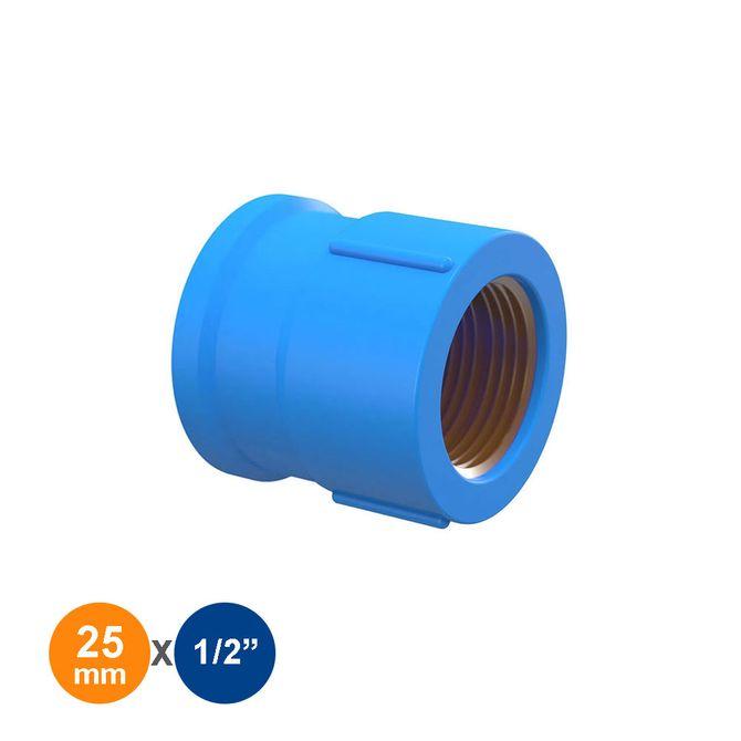 Luva-de-Reducao-Azul-Solda-Rosca-25mmx1-2---Tigre