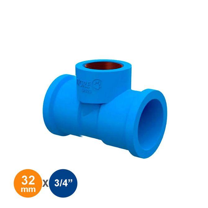 Te-de-Reducao-Azul-Solda-Rosca-32mmx3-4---Tigre