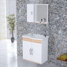 Kit-Gabinete---Espelheira-para-Banheiro-555cm-MDF-Verona-Suspenso-Branco-e-Aya-com-Pia---Rorato-2