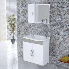 Kit-Gabinete---Espelheira-para-Banheiro-555cm-MDF-Verona-Suspenso-Branco-e-Cinza-Claro-com-Pia---Rorato-2