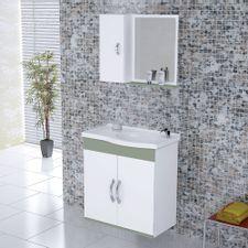 Kit-Gabinete---Espelheira-para-Banheiro-555cm-MDF-Verona-Suspenso-Branco-e-Verde-com-Pia---Rorato-2