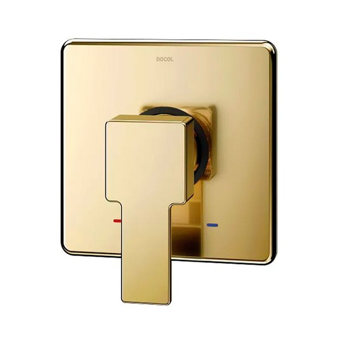 Acabamento-Monocomando-para-Chuveiro-e-Ducha-Higiencia-Docolbase-Edge-Ouro-Polido---00926043---Docol